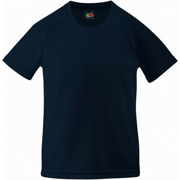 textil Barn T-shirts Fruit Of The Loom 61013 Djupt marinblått