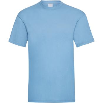 textil Herr T-shirts Universal Textiles 61036 Ljusblå