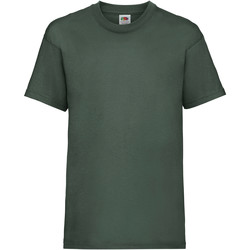 textil Barn T-shirts Fruit Of The Loom 61033 Flaskegrön