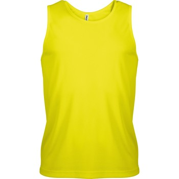 textil Herr Linnen / Ärmlösa T-shirts Kariban Proact PA441 Fluorescerande gult