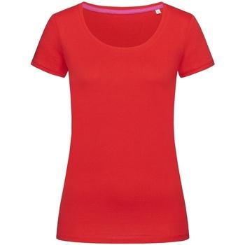 textil Dam T-shirts Stedman Stars  Crimson Red