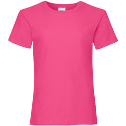 textil Flickor T-shirts Fruit Of The Loom 61005 Fuchsia