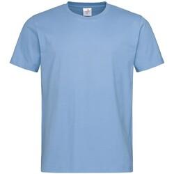 textil Herr T-shirts Stedman  Ljusblå