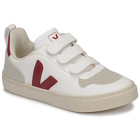 Skor Barn Sneakers Veja SMALL-V-10-VELCRO Vit / Bordeaux