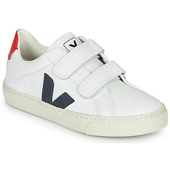 Skor Barn Sneakers Veja SMALL-ESPLAR-VELCRO Vit / Blå / Röd