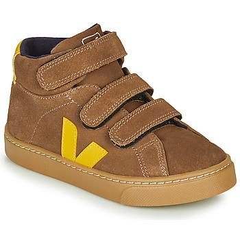 Skor Barn Höga sneakers Veja SMALL-ESPLAR-MID Brun / Gul
