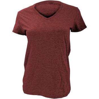 textil Dam T-shirts Anvil Basic Independence Red