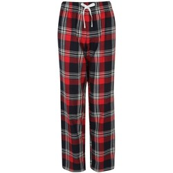 textil Dam Pyjamas/nattlinne Skinni Fit Tartan Röd/marinefärgad ruta