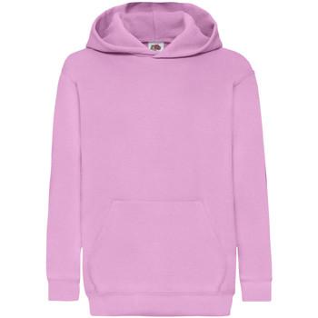 textil Barn Sweatshirts Fruit Of The Loom 62043 Ljusrosa