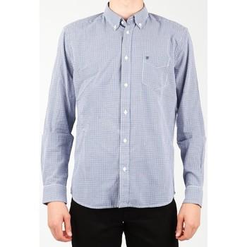 textil Herr Långärmade skjortor Wrangler 1 PKT Shirt W5929M8DF blue, white