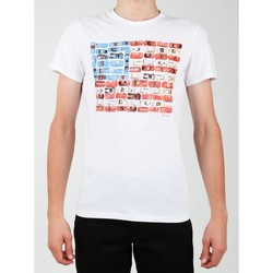 textil Herr T-shirts Wrangler S/S Modern Flag Tee W7A45FK12 white