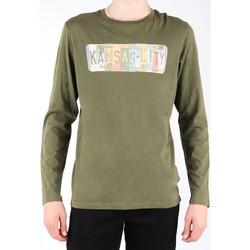 textil Herr Långärmade T-shirts Lee L848AI olive green