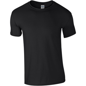 textil Herr T-shirts Gildan Soft-Style Svart