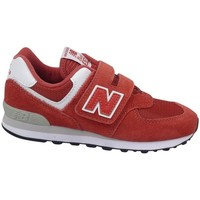 Skor Barn Sneakers New Balance YV574EC Röda