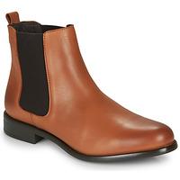 Skor Dam Boots André CARAMEL Cognac