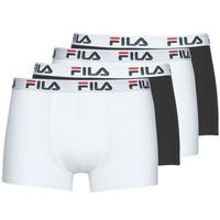 Underkläder  Herr Boxershorts Fila Pack de 4 Svart / Vit