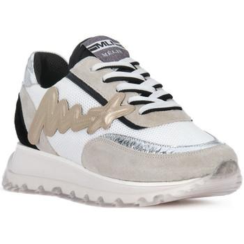 Skor Herr Sneakers At Go GO MOON ARGENTO 560 Grigio