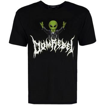 textil Herr T-shirts Domrebel  Svart
