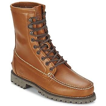 Skor Herr Boots Timberland AUTHENTICS 8 IN RUGGED HANDSEWN Jordfärgad / Cuite