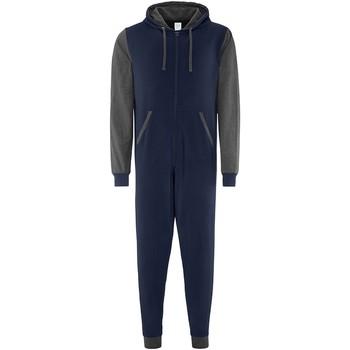 textil Pyjamas/nattlinne Comfy Co CC003 Marinblått/grått
