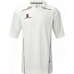 textil Herr T-shirts Surridge SU009 Vit/rödbrunt klädsel