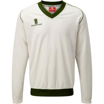 textil Herr Sweatshirts Surridge SU008 Vit/grön trim