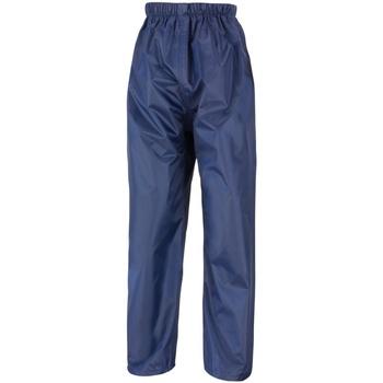 textil Barn Joggingbyxor Result R226J Marinblått