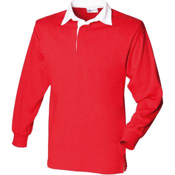 textil Barn Långärmade pikétröjor  Front Row  Röd