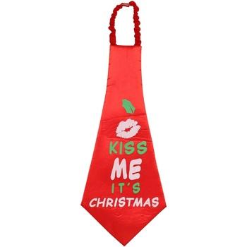 textil Slipsar och accessoarer Christmas Shop CS252 Röd