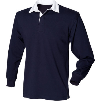 textil Barn Långärmade pikétröjor  Front Row  Marinblått