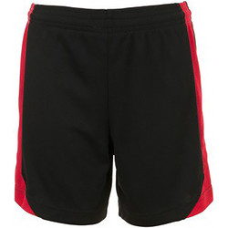 textil Barn Shorts / Bermudas Sols 01720 Svart/röd