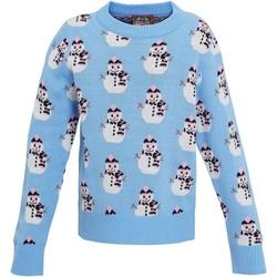 textil Flickor Sweatshirts Christmas Shop CS027 Ljusblå