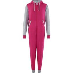 textil Uniform Comfy Co CC003 Varmt rosa/vädergrått