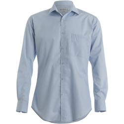 textil Herr Långärmade skjortor Kustom Kit KK113 Ljusblå