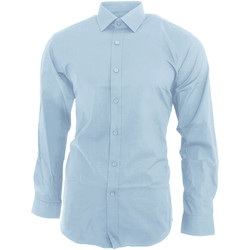 textil Herr Långärmade skjortor Brook Taverner BK130 Himmelblått