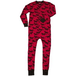 textil Pyjamas/nattlinne Lazyone  Röd/Svart