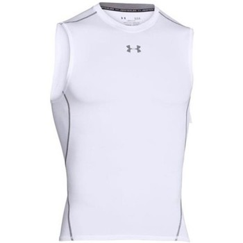 textil Herr Linnen / Ärmlösa T-shirts Under Armour Heatgear Compression SL Vit