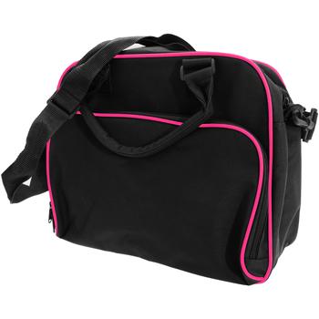 Väskor Barn Skolväskor Bagbase BG145 Svart/Fuchia