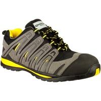 Skor Herr Sneakers Amblers 42C S1P HRO Svart/grå/gul
