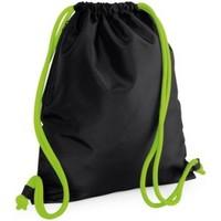 Väskor Barn Sportväskor Bagbase BG110 Svart/Lime Green