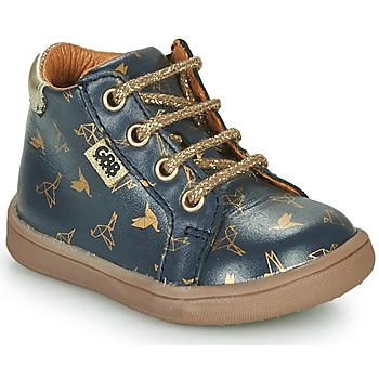 Skor Flickor Boots GBB FAMIA Blå / Guldfärgad