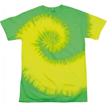 textil Dam T-shirts Colortone Rainbow Fluorescerande gult/ lime