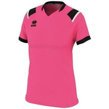 textil Dam T-shirts Errea Maillot femme  lenny vert/noir/blanc