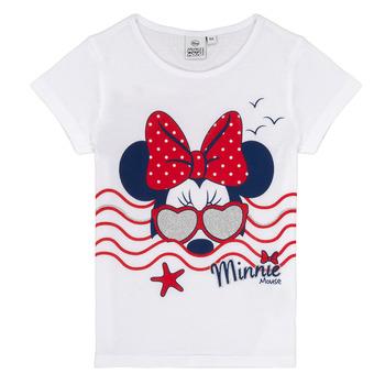 textil Flickor T-shirts TEAM HEROES MINNIE Vit