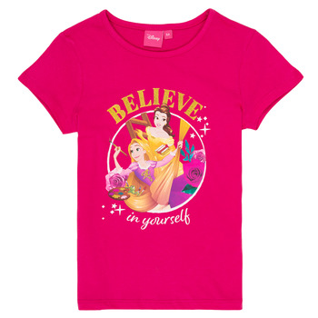 textil Flickor T-shirts TEAM HEROES DISNEY PRINCESS Rosa