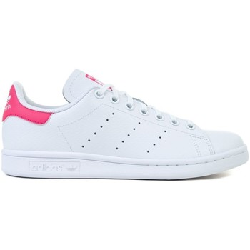 Skor Barn Sneakers adidas Originals Stan Smith J Vit,Rosa