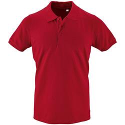 textil Herr Kortärmade pikétröjor Sols PHOENIX MEN SPORT Rojo