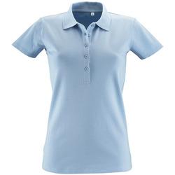 textil Dam Kortärmade pikétröjor Sols PHOENIX WOMEN SPORT Azul
