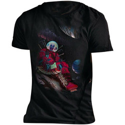 textil T-shirts Deadpool  Svart