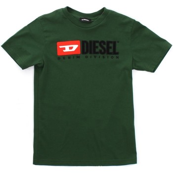 textil Barn T-shirts Diesel Kid 00J47V 00YI9 Green